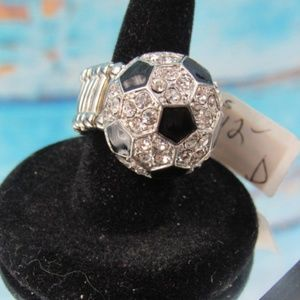 Fresh Crystal Collection Soccer Ball Ring